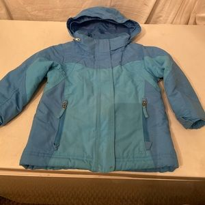 LL Bean blue nylon ski jacket 3T